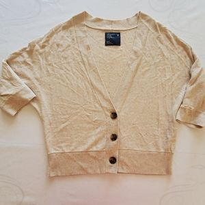 American Eagle Beige Color Buttoned Cardigan